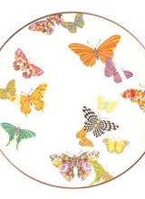 Mackenzie-Childs Butterfly Garden White Dinner Plate
