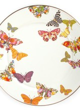 Mackenzie-Childs Butterfly Garden White - Charger