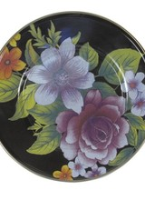 Mackenzie-Childs Flower Market Salad/Dessert Plate - Black
