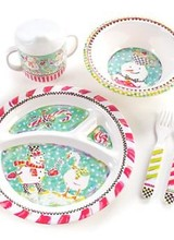 Mackenzie-Childs Toddler Dinnerware Set Tender Tidings