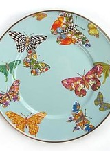 Mackenzie-Childs Butterfly Garden Salad/Dessert Plate