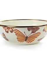 Mackenzie-Childs Our White Butterfly Garden Small Everyday Bowl is the dressed-up workhorse of our garden-fauna-inspired Butterfly Garden Collection.
