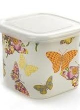 Mackenzie-Childs Butterfly Garden White Deep Squarage Bowl - Small