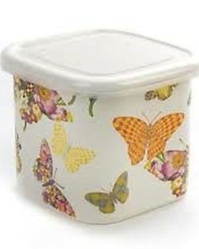 Mackenzie Childs Butterfly Garden White Deep Squarage Bowl   Small   LG  Gallery