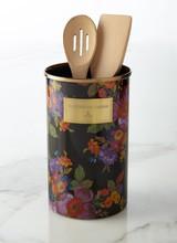 Mackenzie-Childs Flower Market Black Utensil Holder