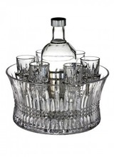 Waterford Waterford<br /> Lismore Diamond Vodka Set with Chill Bowl, Shot Glasses &amp; Silver Insert