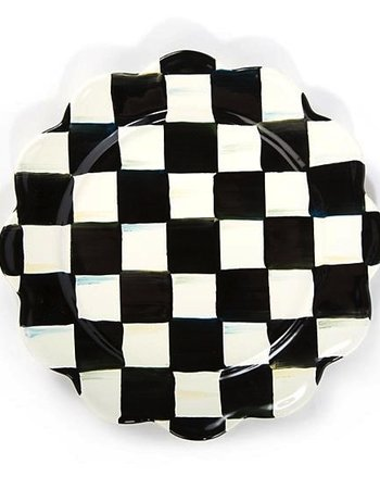 Mackenzie-Childs Courtly Check Enamel Petal Salad/Dessert Plate