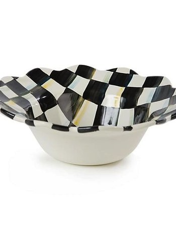 Mackenzie-Childs Courtly Check Enamel Petal Breakfast Bowl