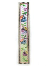 Mackenzie-Childs Birdie Growth Chart<br /> <br /> Product # 31 78008 002New! High contrast visuals make little peepers light up, and our Zebra Blanket Set makes a eye-catching addition to a bold nursery. With a field of black and white zigzags, this 100% cotton blanket is as graphic