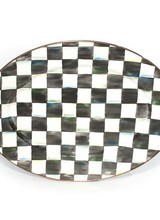 Mackenzie-Childs Courtly Check  Medium Oval Platter
