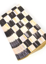 Mackenzie-Childs Courtly Check Paper Napkins - Guest - Gold