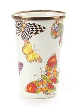 Mackenzie-Childs Butterfly Garden Tumbler 10oz. - White