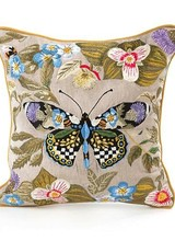 Mackenzie-Childs Thistle & Bee Square Pillow - Small