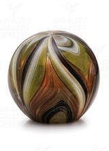 Dynasty Gallery Paperweight - Feathers Yellow & Gold Glow