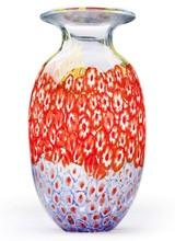 Dynasty Gallery Millefiori Clear Vase