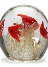 Dynasty Gallery Small Paperweight - Schooling Fish