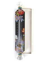 Mackenzie-Childs Flower Market Black Enamel Thermometer