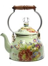 Mackenzie-Childs Flower Market Tea 2Qt. Kettle - Green
