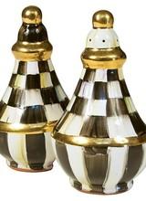 Mackenzie-Childs Courtly Check Ceramic Salt & Pepper Set