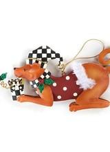 Mackenzie-Childs Christmas Dog Ornament