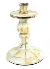 Mackenzie-Childs Parchment Check Small Candlestick