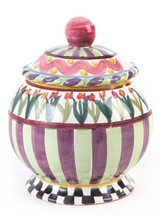 Mackenzie-Childs Picadilly Ceramics Medium Canister