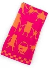 Mackenzie-Childs Animal Parade Pink Knit Blanket