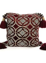 Mackenzie-Childs Burgundy Florentine Pillow