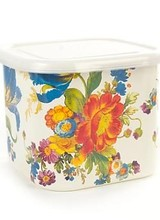 Mackenzie-Childs Flower Medium Deep Storage Bowl - White