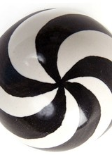 Mackenzie-Childs Black & White Dot Knob
