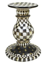 Mackenzie-Childs Courtly Check Ceramic Pedestal Table Base