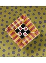 Mackenzie-Childs Torquay Square Knob - Stripe Frank & Mustard