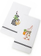 Mackenzie-Childs Bunny Guest Towels - Set of 2