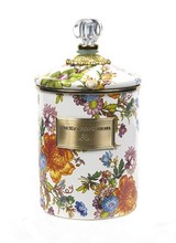 Mackenzie-Childs Flower Market Medium Canister - White