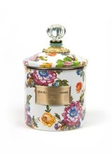 Mackenzie-Childs Flower Market Canister - White Small
