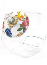 Mackenzie-Childs Flower Market White Cookie Jar Enamel Lid