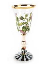 Mackenzie-Childs Thistle Red Wine Glass