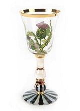 Mackenzie-Childs Thistle White Wine Glass