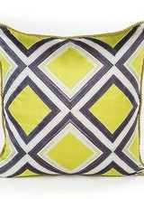 Mackenzie-Childs New! Our Chartreuse Mosaic Pillow makes no apology for its boldness. With a color so bright that it practically leaps off the fabric and bold Courtly Stripes, it's the perfect way to add our signature style to your home.