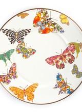 Mackenzie-Childs Butterfly Garden Salad/Dessert Plate -White