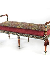 Mackenzie-Childs Musette Bench - Local Delivery