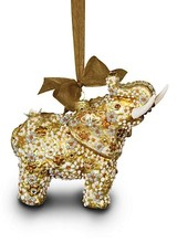 Jay Strongwater Mille Fiori Elephant Glass Ornament