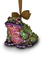 Jay Strongwater Mille Fiori Frog Glass Ornament - Flora