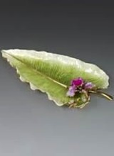 Jay Strongwater Leaf & Orchid Tray