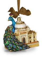 Jay Strongwater Grand Peacock Glass Ornament - Jewel