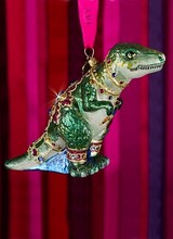 Jay Strongwater T-Rex Glass Ornament