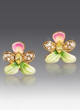 Jay Strongwater Rosalinda Violet Post Earrings