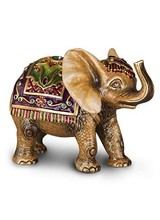 Jay Strongwater Colin Tapestry Elephant Figurine - Brocade