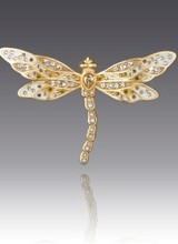 Jay Strongwater Candice Bejeweled Dragonfly Pin