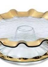 Annie Glass Ruffle Pedestal Cake Plate
